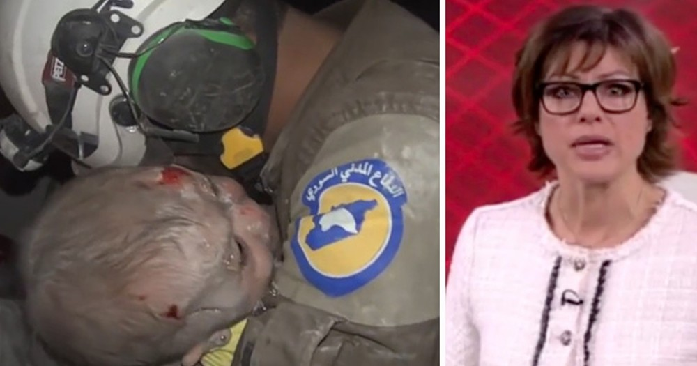 Rescuer And News Anchor In Tears Over Baby Found In Collapsed Building