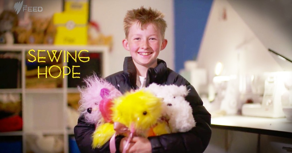 This Little Boy Made A Teddy Bear For His Dad With Cancer And How It's Healing Is Inspiring