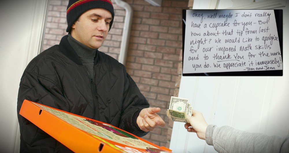 Pizza Delivery Driver Gets This Surprise Note After A 33 Cent Tip