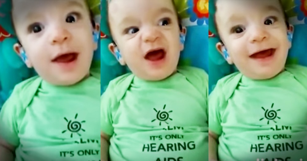 Precious Little Boy Can't Stop Giggling After Hearing His Momma For The First Time