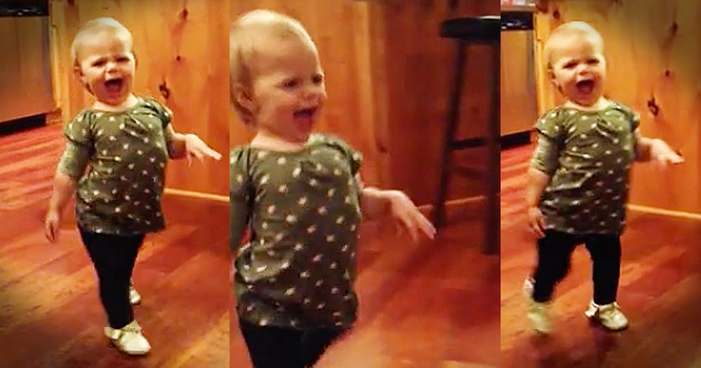 Funny Toddler Loves To 'Waddle' Like Pregnant Mom