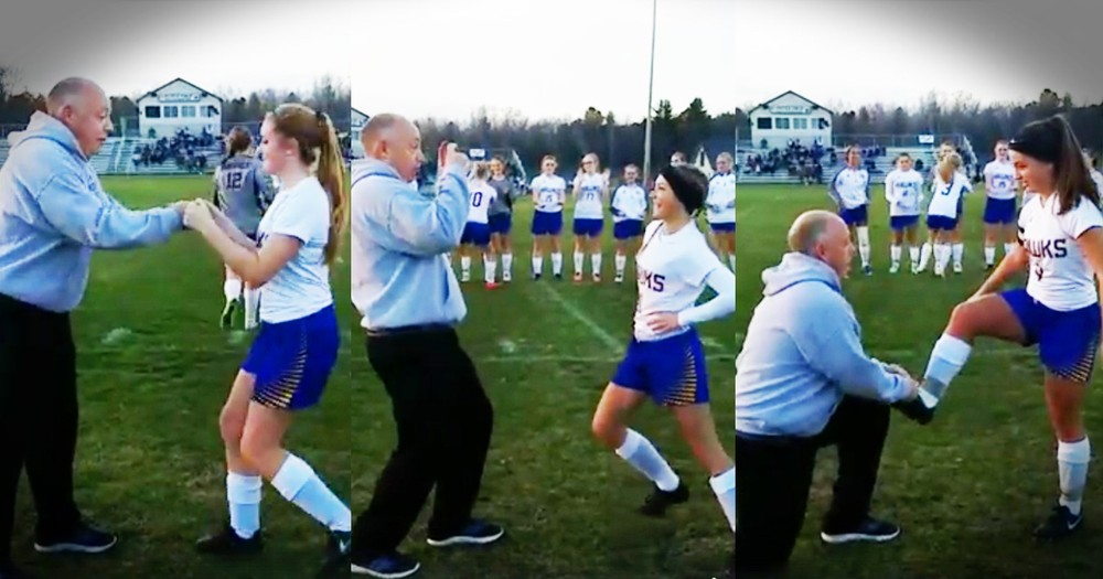 Coach's Secret Handshakes For Each Player Are Hilarious