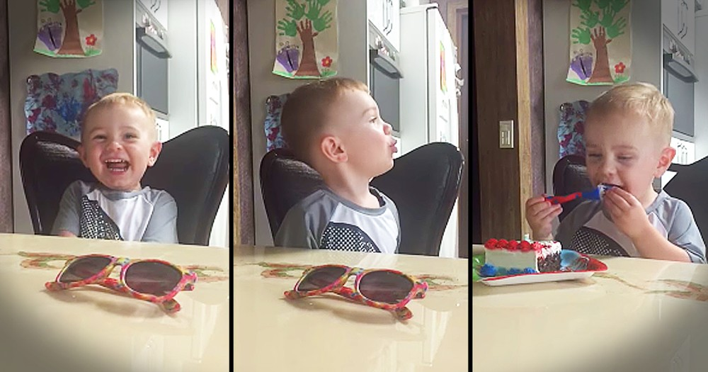 Toddler Gets Super Excited About Cake