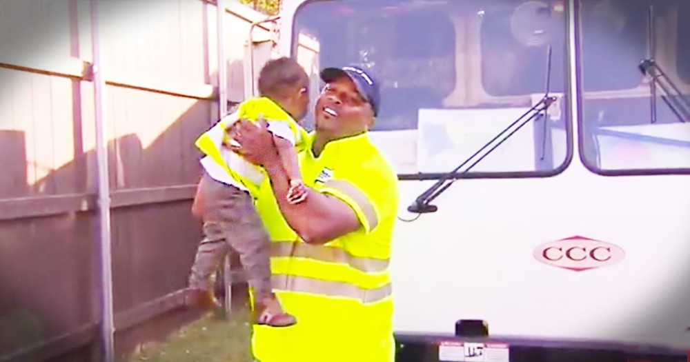 You Gotta See This Toddler And His BFF The Garbage Man