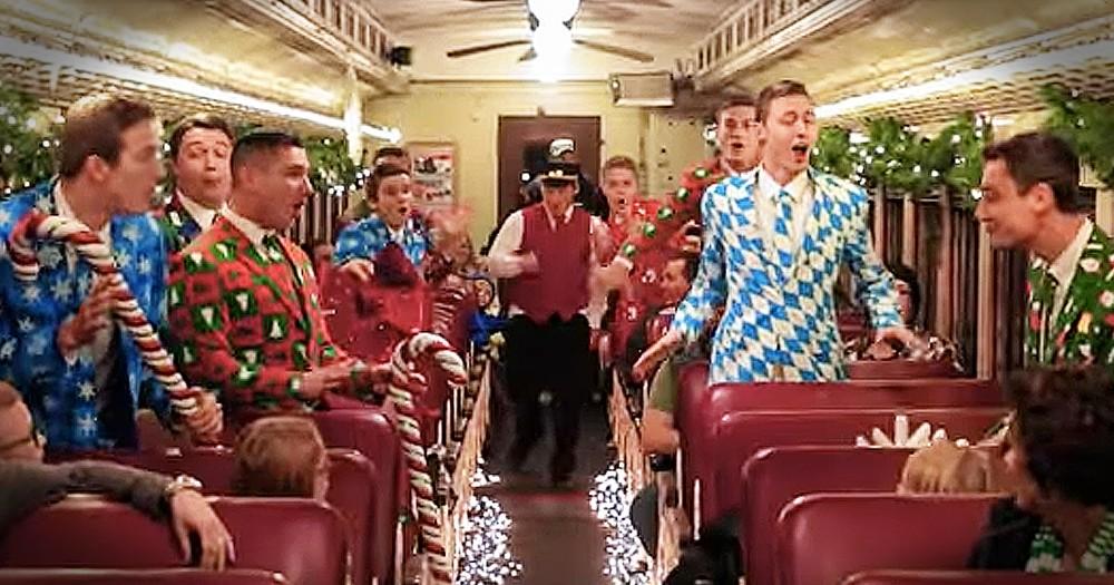 Christmas Flash Mob On A Train Has Everyone Smiling