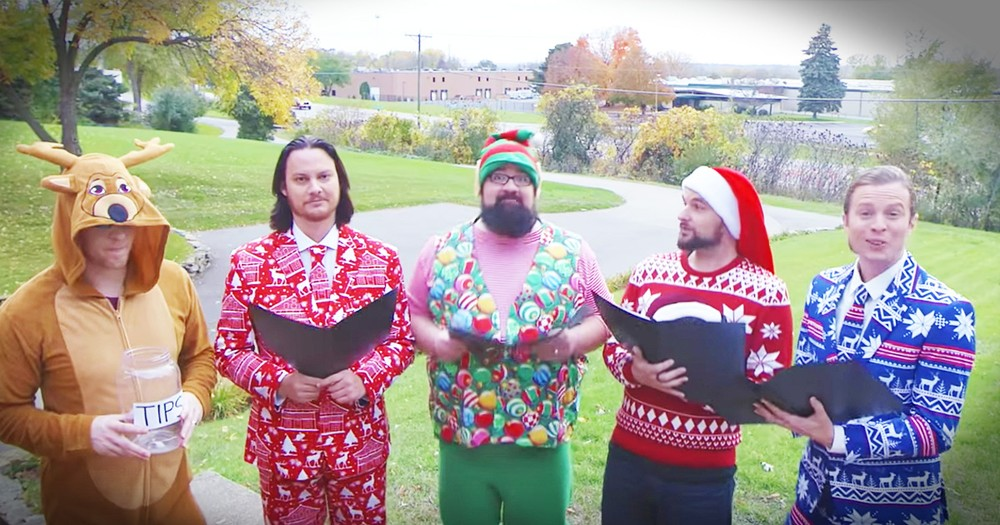 Guys From Home Free Sing A Hilarious Version Of 'Grandma Got Run Over By A Reindeer'