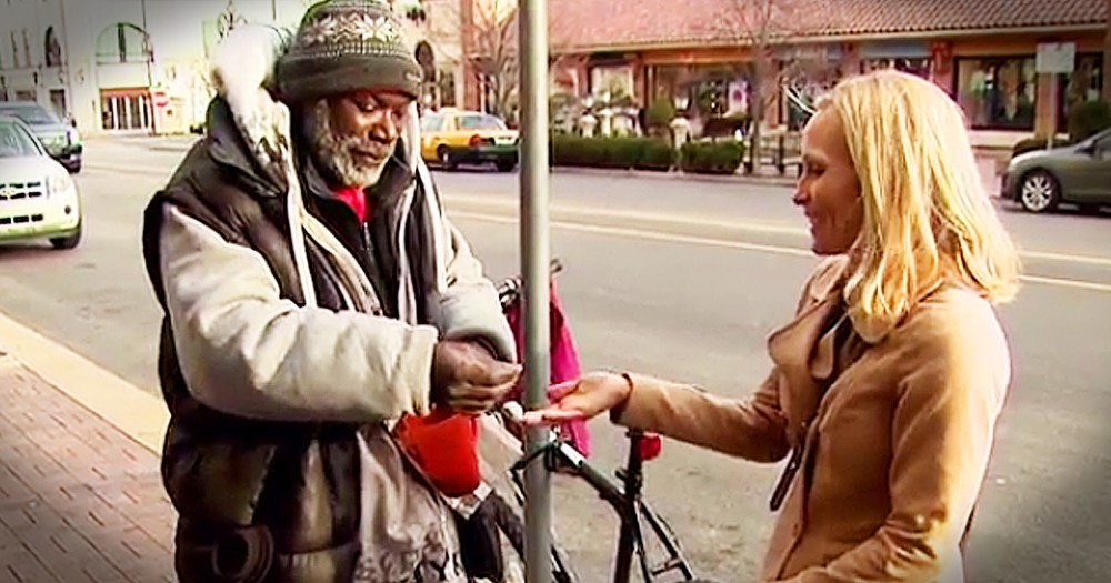 Homeless Man Receives Amazing Gift After Woman Drops Engagement Ring In His Cup