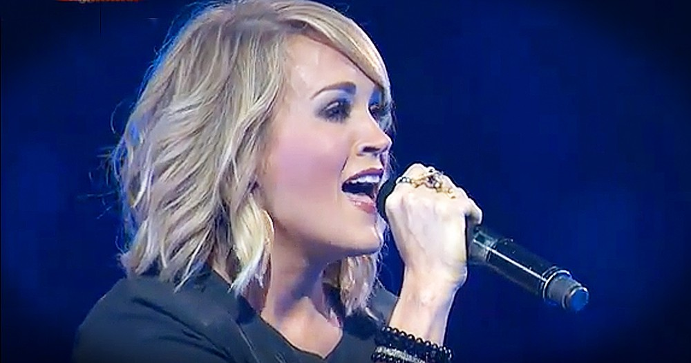 Carrie Underwood Sings 'Something In The Water' At Christian Conference