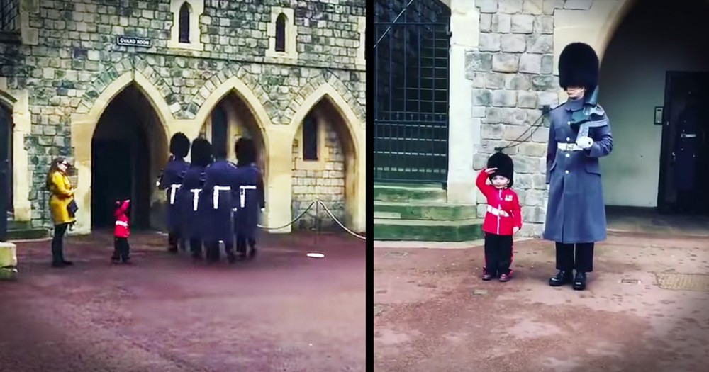 Royal Guard Breaks Tradition To Make A Little Boy's Birthday Wish Come True