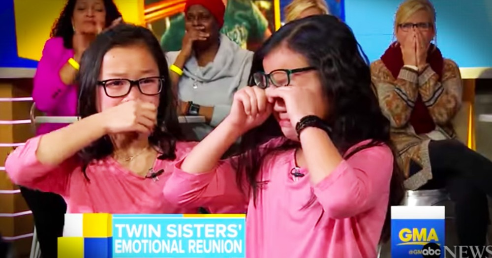 Twin Sisters Separated At Birth Meet For The First Time