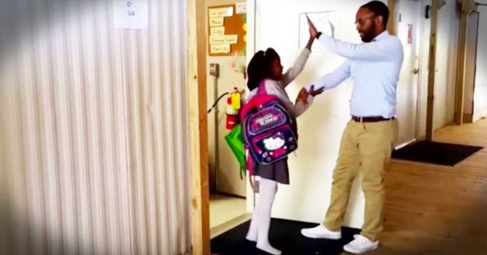 3rd Grade Teacher Has Special Handshake For Each Student