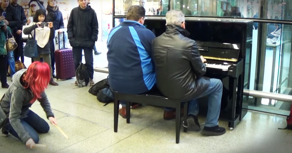 Three Strangers Sat Down At A Piano And Created The Most Amazing Boogie Woogie