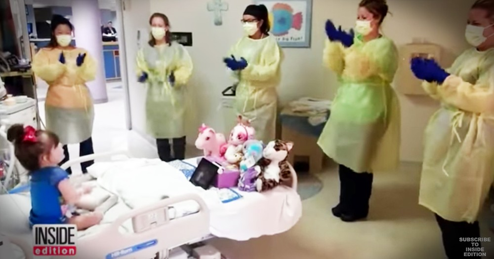 Nurses Do Adorable Hokey Pokey To Cheer Up Sick 3-Year-Old