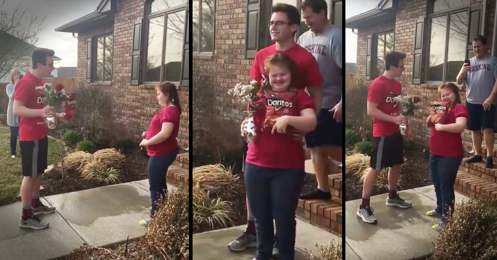 Adorably Cheesy Promposal Put The Biggest Smile On Everyone's Faces