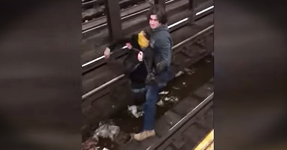 Man Jumps Onto Tracks To Save Stranger 67 Seconds Before Train Passes