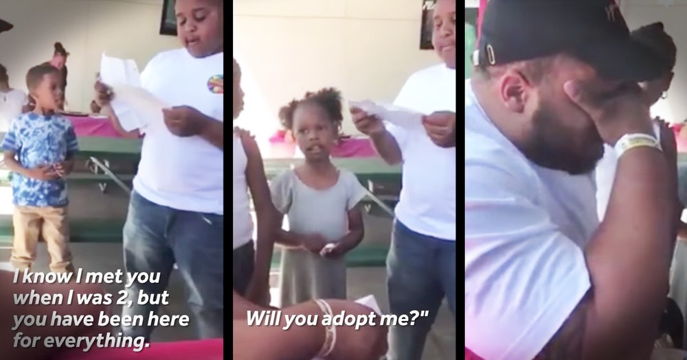 Tough Guy Step-Dad Bursts Into Tears After 10-Year-Old Reads Heartfelt Letter