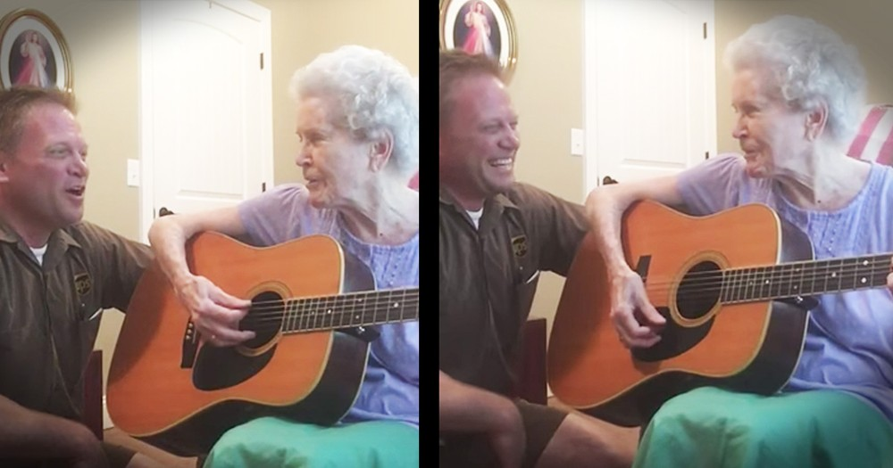 88-Year-Old Mom with Alzheimer's Lights Up When She Picks Up A Guitar