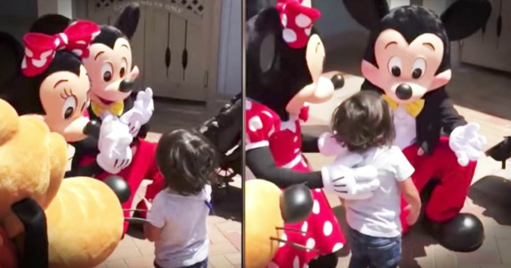 Toddler Is So Joyful When Minnie Mouse Signs 'I Love You'