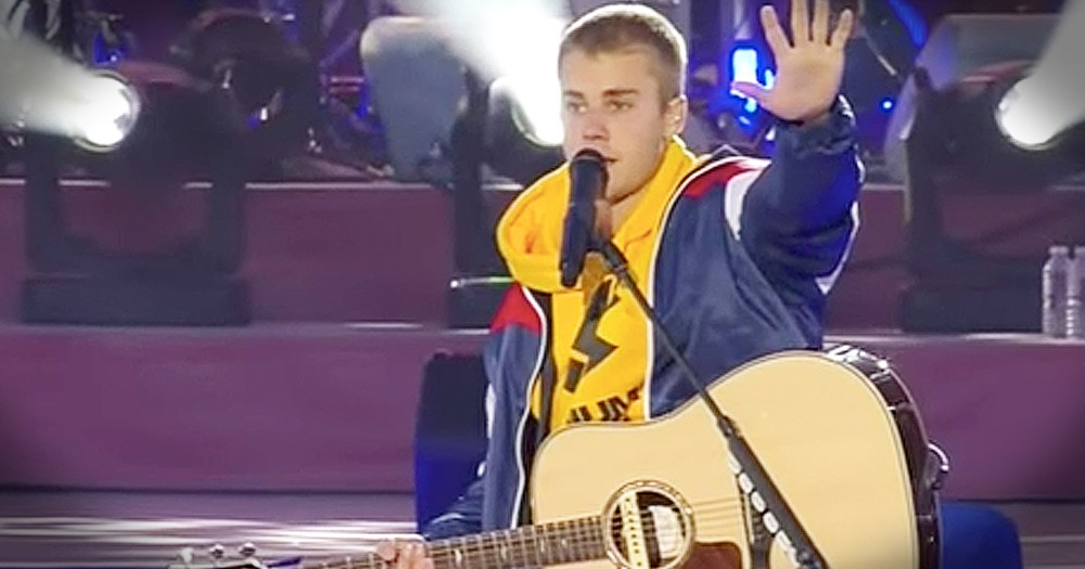Justin Bieber Shares Message Of Faith During Concert