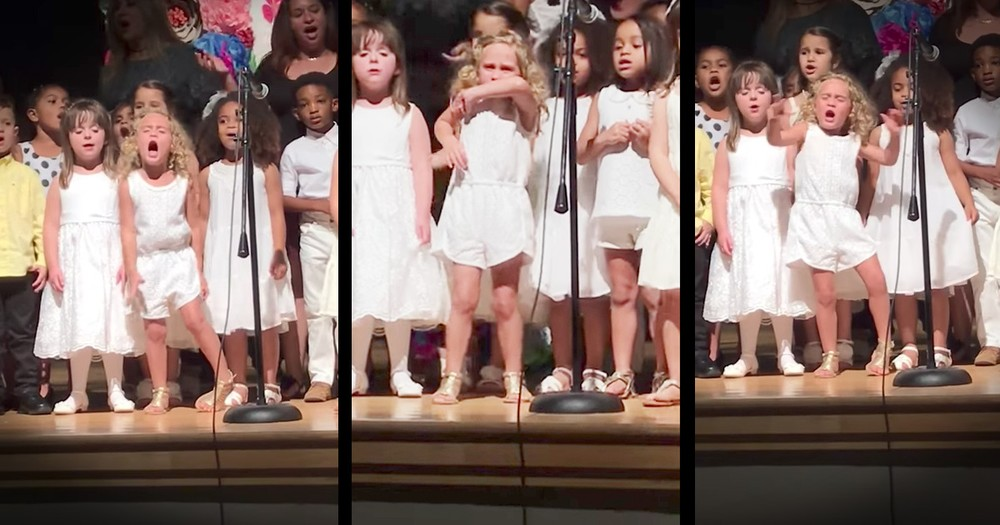 Little Girl Steals The Show At School Concert
