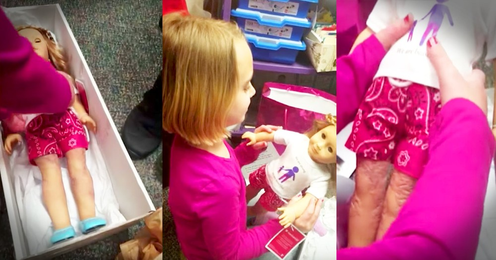 Girl Given Doll To Help Her Love Herself