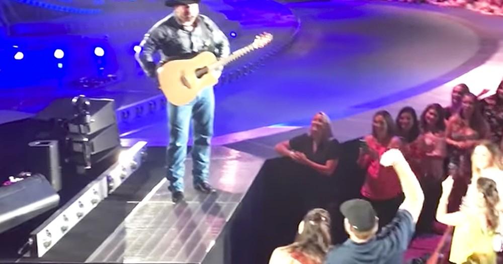 Garth Brooks Stops Concert For Fans' Gender Reveal