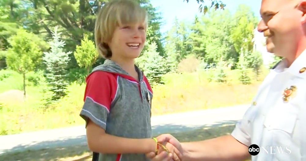 8-Year-Old Honored By Firefighters For Saving Sisters Life