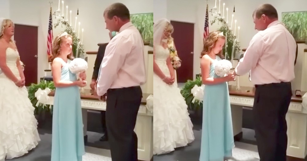 Groom Surprises Stepdaughter With Heartfelt Vows During Wedding