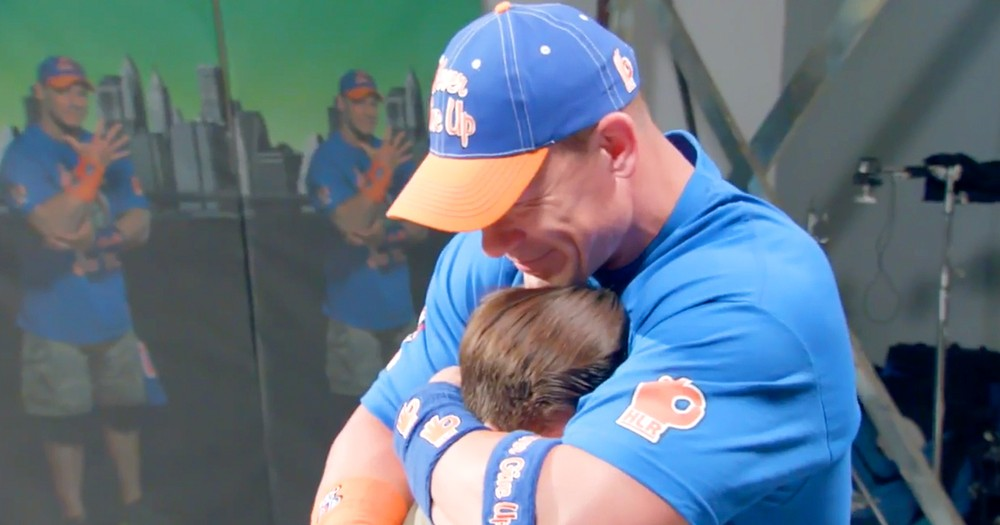 Wrestler John Cena Brought To Tears By Fans' Surprise