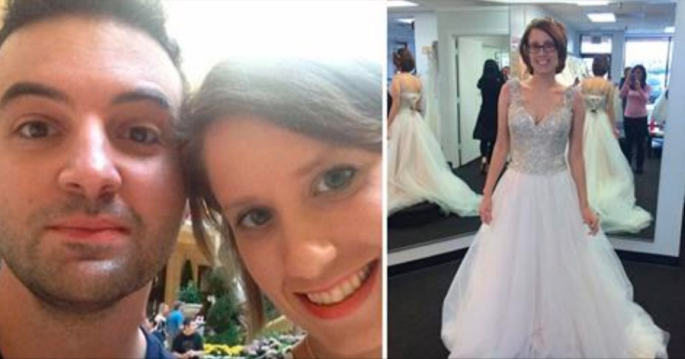 Grieving Husband Shares Photo Of Wife In Wedding Dress Never Got To See Her Wear