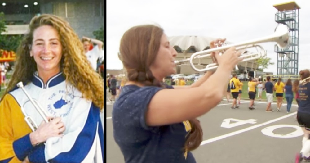 52-Year-Old Woman Still Proudly Marches In College Band