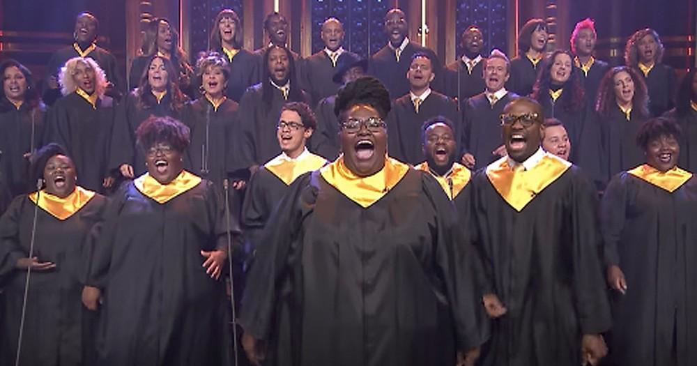 Houston Gospel Choir Sings Beautiful Rendition Of 'Lean On Me'