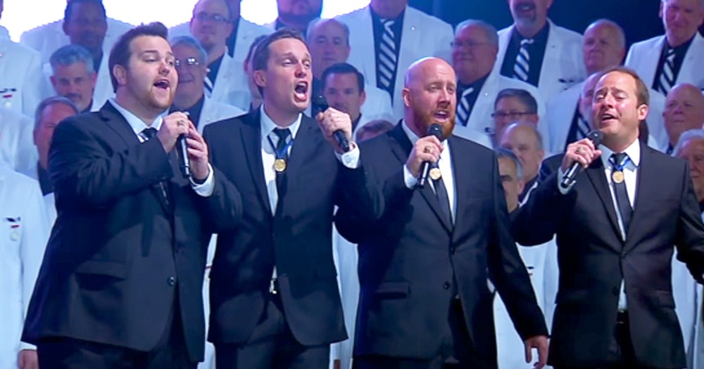 Mens Chorus Sings Barbershop Version Of 'With A Little Help From My Friends'