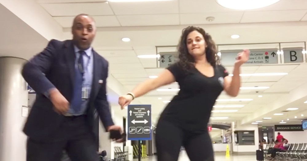 Woman Stranded At Airport Overnight Films Hilarious Viral Dance Video