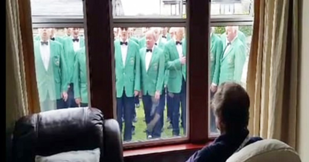 Mens Choir Grants Dying Member's Wish With Heartfelt Surprise Performance