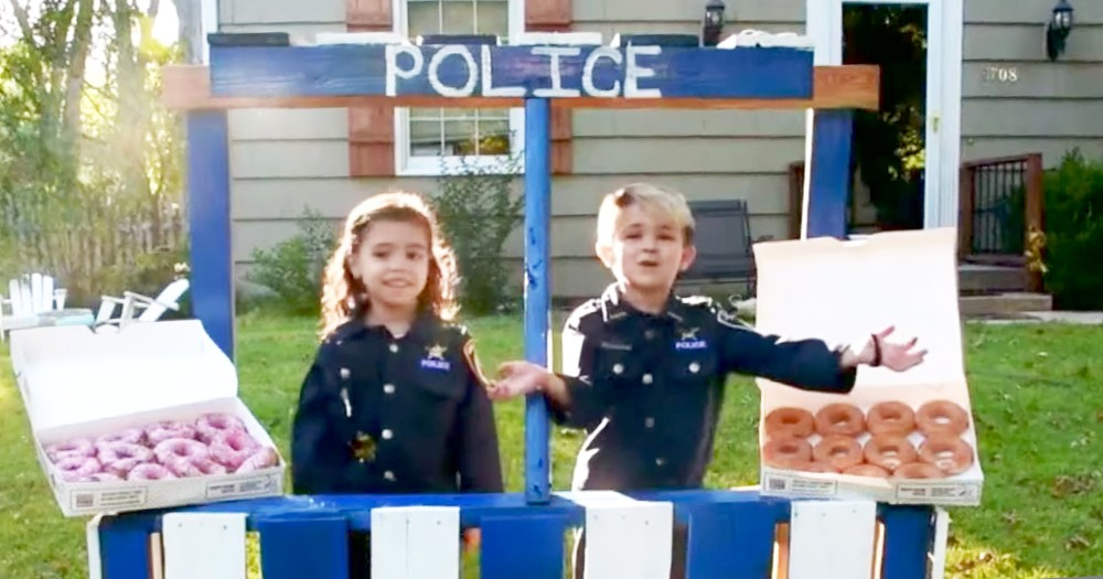 Kind 6-Year-Old Boy Gives Out Donuts To Local Police Officers