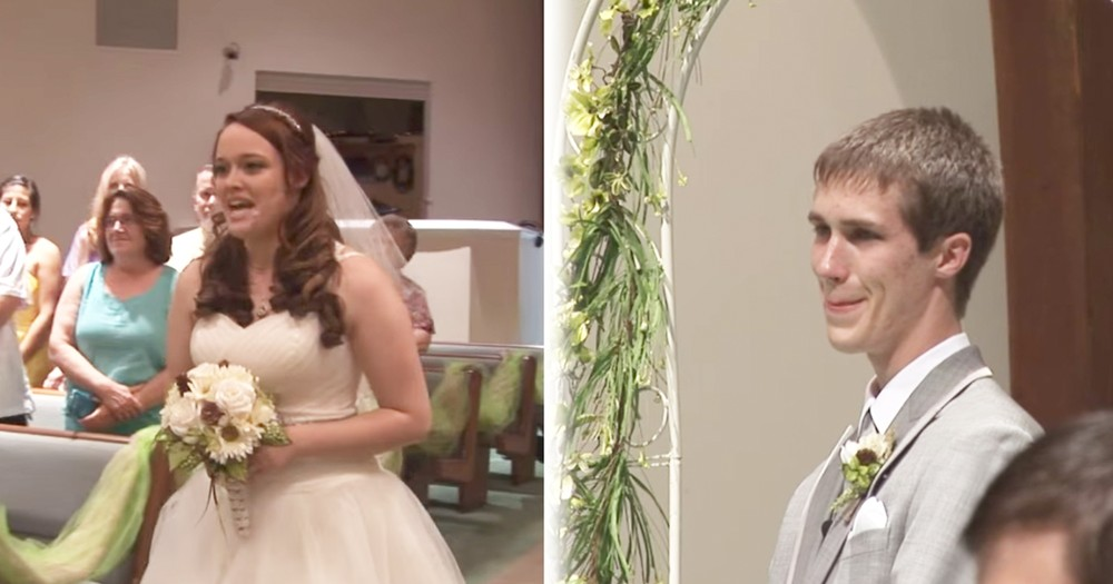 Bride Sings 'Look at Me' to Groom As She Walked Down Aisle