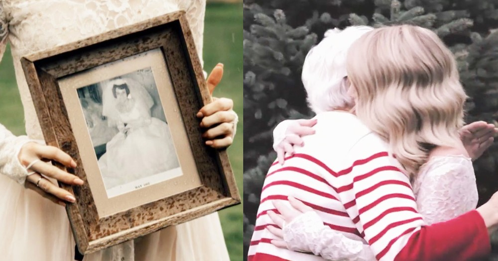 Bride Surprises Her Grandma By Wearing 1962 Wedding Dress