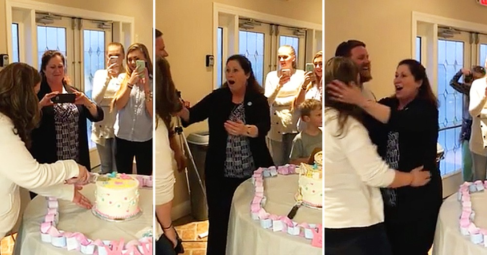 Couple Surprises Family With Two Cakes At Gender Reveal