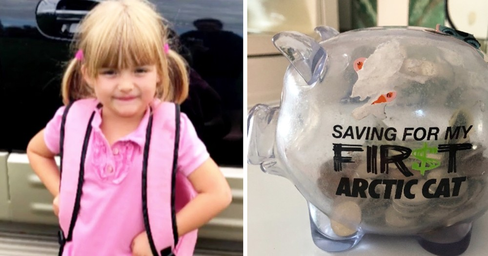 Loving 5-Year-Old Little Girl Empties Piggy Bank To Help Classmate In Need