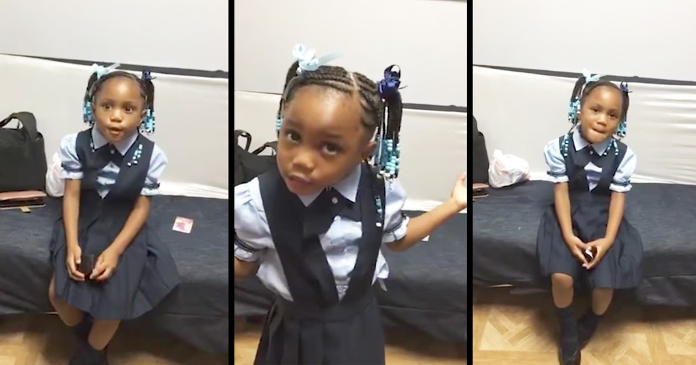 Hilarious Pre-Schooler Thinks She's Too Smart To Do Homework