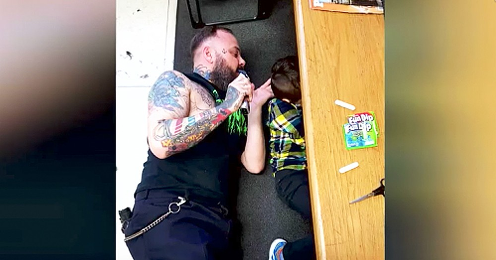 Kind Barber Cuts Autistic Boy's Hair In The Most Unconventional Way