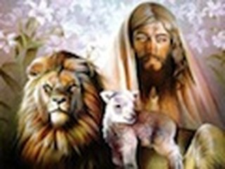 Jesus with the Lion and the Lamb