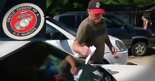 Marine Father Breaks Down After Finding Hateful Note On His Car