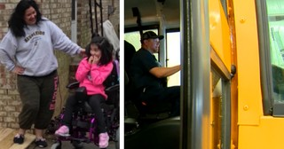 School Bus Driver Makes Good On His Promise To Disabled Student's Mom