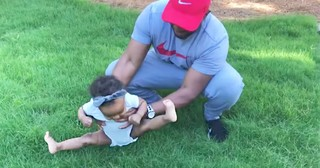 Hilarious Baby Has No Interest In Playing In The Grass