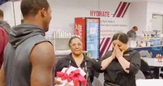 NFL Football Player Gives Away His First Paycheck