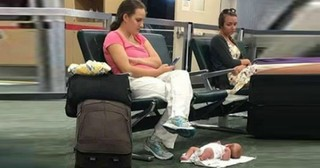 She Laid Her Baby On The Airport Floor, Then The Internet Lashed Out