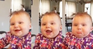 Adorable Baby's Extreme Reactions To Dad Singing Go Viral