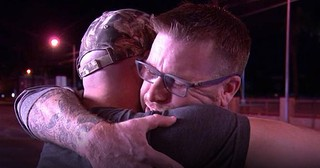 Hero's Emotional Reunion With Stranger He Saved During Vegas Shooting